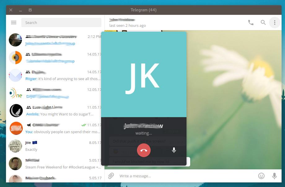 Chamadas de voz no Telegram Desktop! Agora sim!