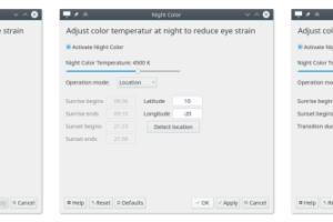 Night Light no KDE Plasma - em breve recurso será nativo