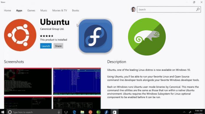 Ubuntu, Fedora e OpenSUSE na Windows Store! Como é que é?