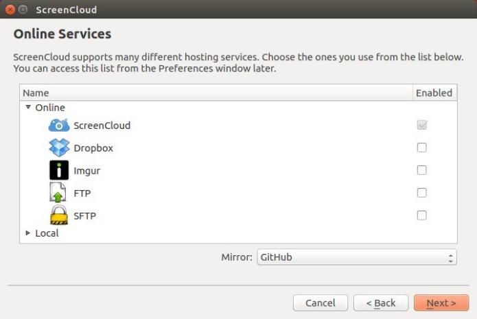 Como instalar o compartilhador de tela de aplicativo ScreenCloud no Ubuntu