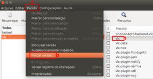 Como fazer downgrade de um pacote instalado usando o Synaptic