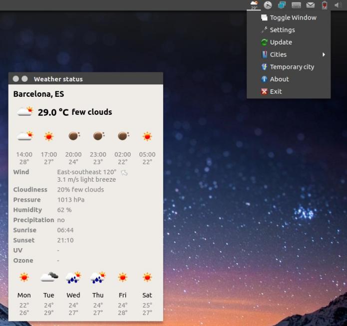 De olho no tempo - Como instalar o Meteo-Qt indicator no Linux