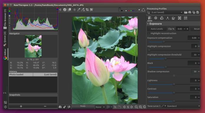 Como instalar o editor de imagens RAW RawTherapee no Ubuntu