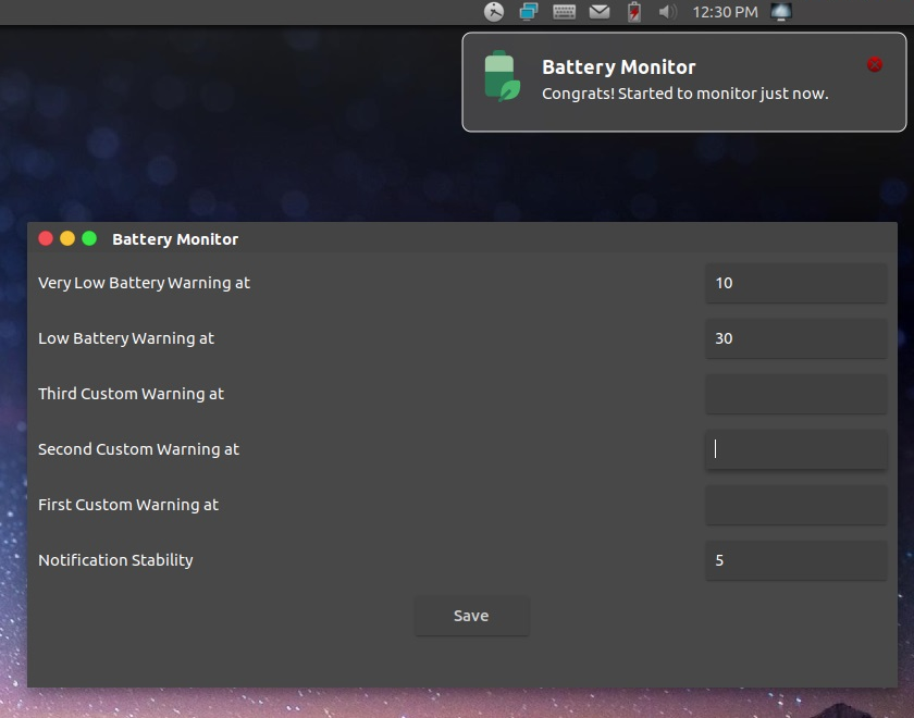 battery monitor no linux 2 - Como instalar o reprodutor VLC no Linux via AppImage