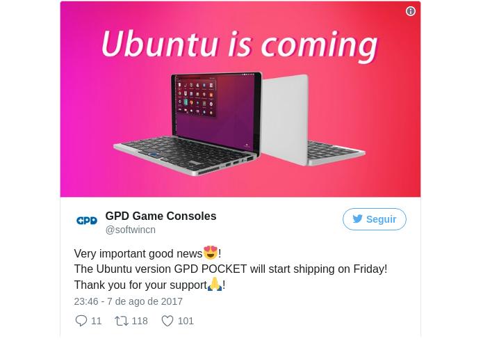 GPD Pocket com Ubuntu - laptop de 7 polegadas já está sendo enviado
