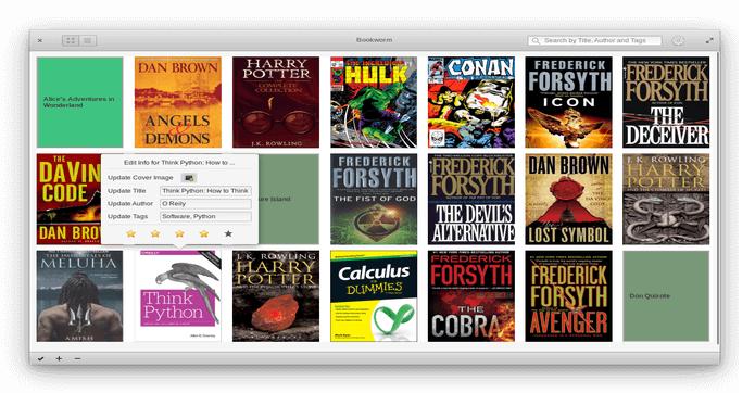 Como instalar o leitor de ebook Bookworm no Ubuntu e derivados