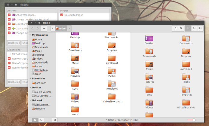 Como instalar o Nemo sem as dependências do Cinnamon no Ubuntu 17.04 e 16.04