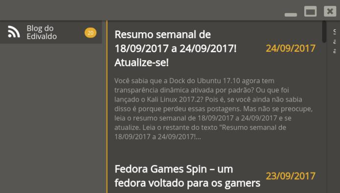 Como instalar o leitor de Feeds RSS Alduin no Linux
