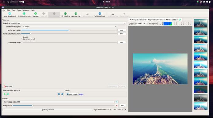 Como instalar o app Luminance HDR no Ubuntu, Mint e derivados