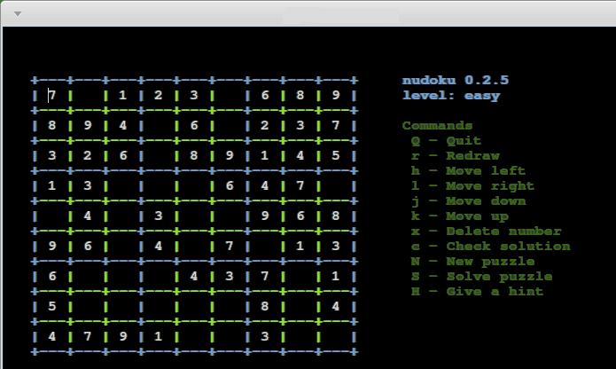 Como instalar nudoku para jogar sudoku no terminal