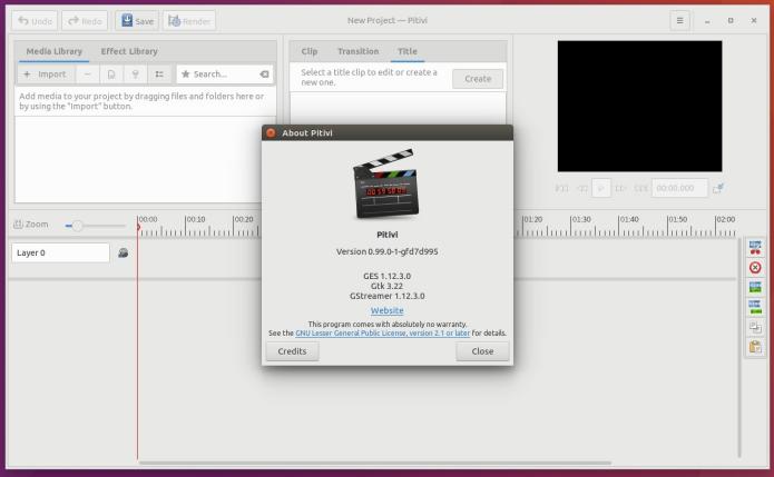 Como instalar o editor de vídeo Pitivi no Linux Ubuntu, Debian, Fedora e openSUSE