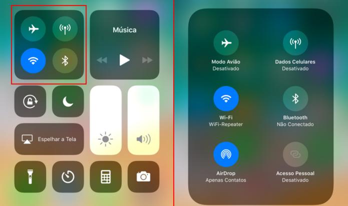 Central de Controle do iOS 11 tem opções extras com 3D Touch