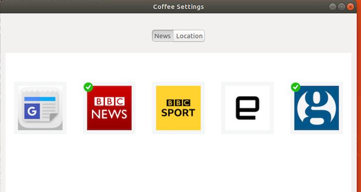Como instalar o app de notícias e tempo Coffee no Ubuntu