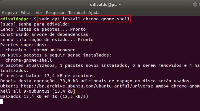 Como instalar extensões do Gnome Shell