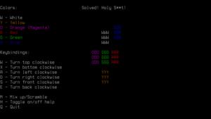 Como jogar cubo mágico no Terminal com o NRubik