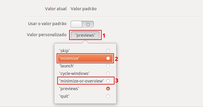 Como ativar o recurso de minimizar janela de aplicativo ao clicar no Ubuntu 17.10