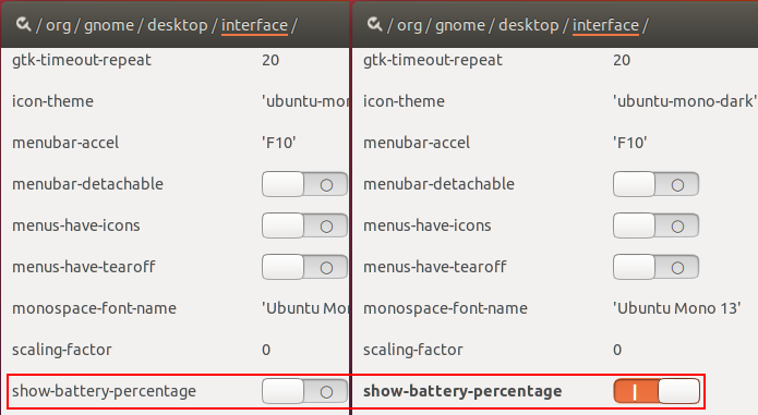 Como mostrar o percentual de uso da bateria no Ubuntu 17.10