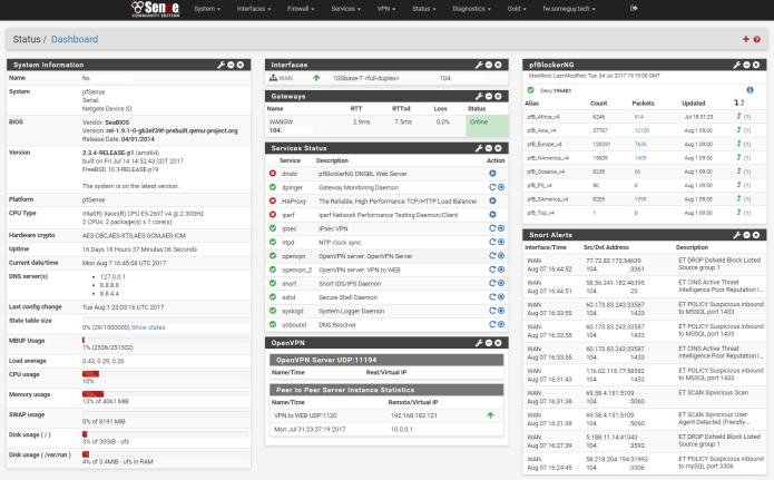 pfSense 2.4.0 lançado - Confira as novidades e baixe