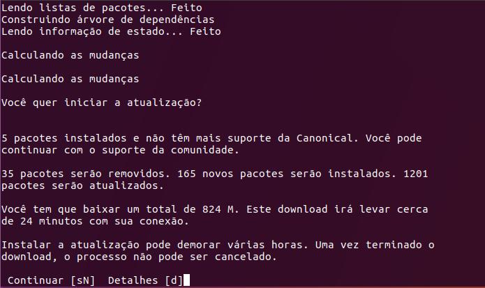 up terminal 1 - Cliente Dropbox no Linux só funcionará com sistema de arquivos Ext4