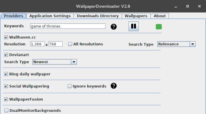 Como instalar o WallpaperDownloader no Ubuntu, Arch e derivados