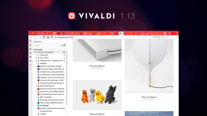 Lançado Vivaldi 1.13 com gerenciamento de abas e melhor desempenho