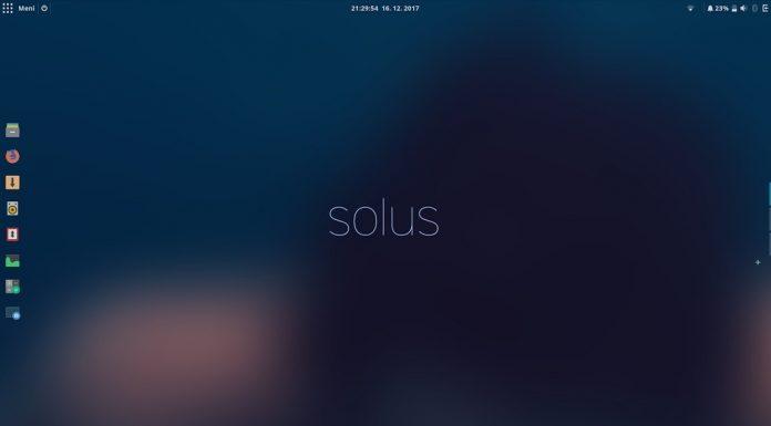 Solus 4 chegará em janeiro de 2018 com várias melhorias