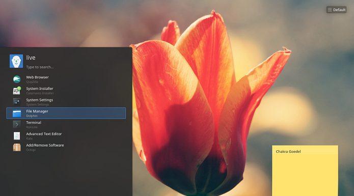 KDE Plasma 5.11.5 no Chakra GNU/Linux? Já chegou!