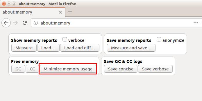 Como fazer para liberar memoria no Firefox