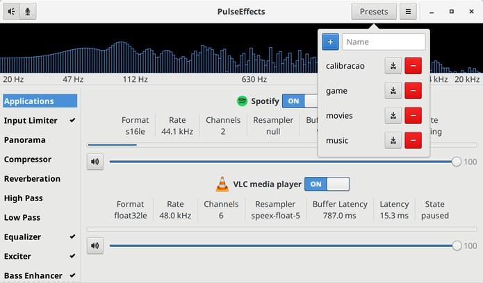 Como instalar o equalizador PulseEffects no Linux