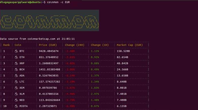 Como consultar o valor das criptomoedas no Linux via terminal
