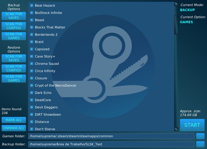 Backup Steam saves? Salve seus jogos Steam no Linux com o SLSK