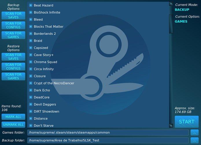 Backup Steam saves? Salve seus jogos Steam no Linux com o SLSK
