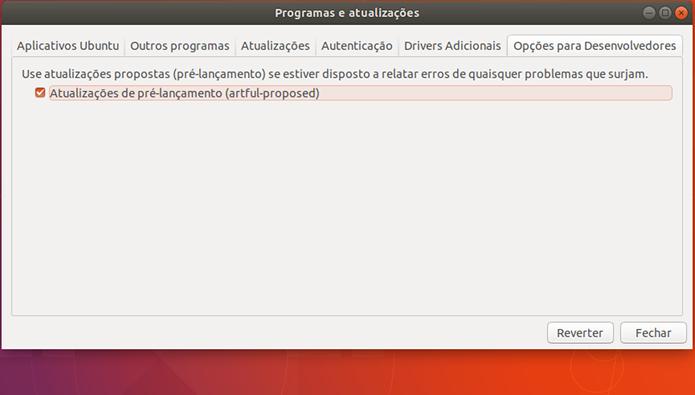 Como configurar o Ubuntu para avisar que existe uma nova versão
