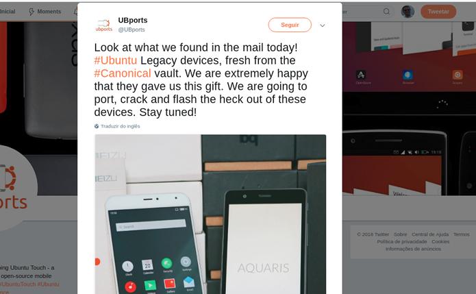 Canonical fez uma doação de Ubuntu Phones para o projeto UBports