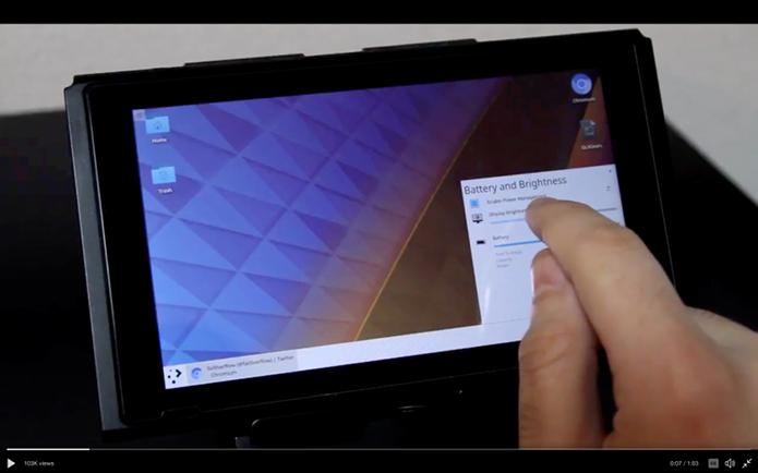 Hackers transformaram o Nintendo Switch em tablet com KDE Plasma