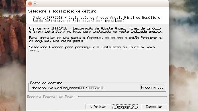 Como instalar o programa IRPF 2018 no Linux via arquivo BIN