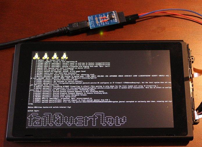 Nintendo Switch foi hackeado para executar o Linux