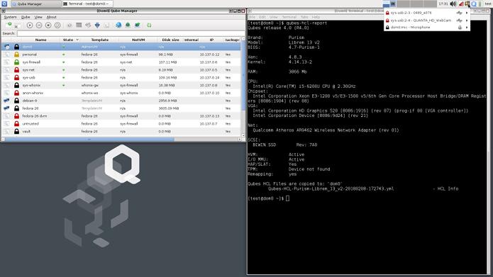 Qubes OS em laptops Librem – Purism diz que já é possível instalar