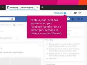 Facebook Container impede Facebook de rastrear usuário fora da rede social