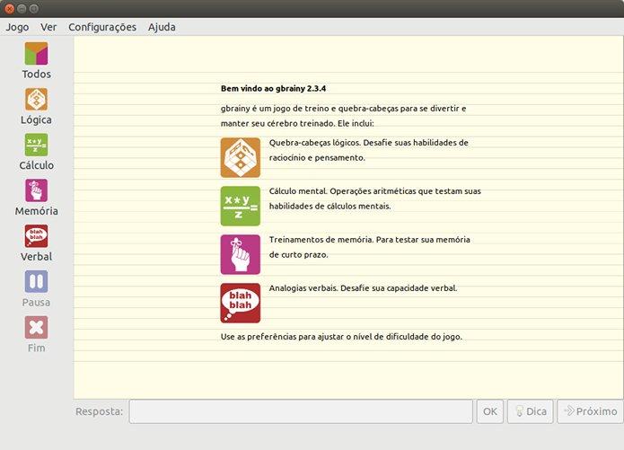 Como instalar o jogo de lógica gbrainy no Linux via Flatpak