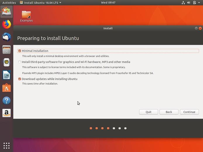Instalação Minima já está disponível no Ubuntu 18.04