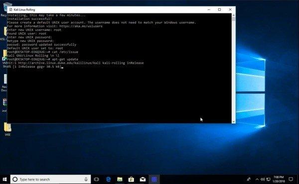Kali Linux no Windows - Distro já está disponível na Windows 10 Store
