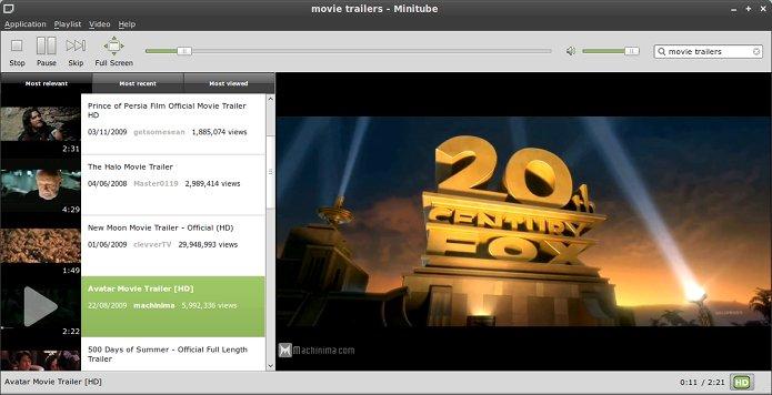 Como instalar o cliente YouTube Minitube no Linux via Flatpak