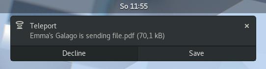 Como instalar o app de envio de arquivos Teleport no Linux via Flatpak