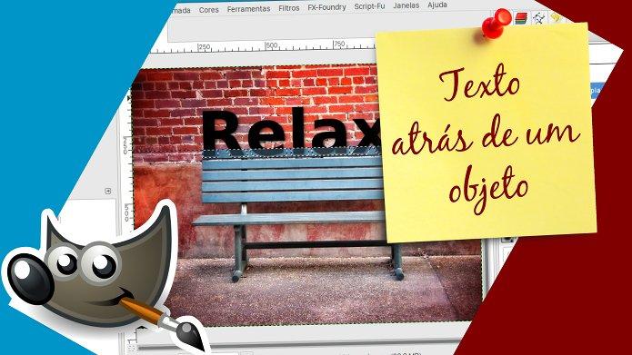 Como colocar um texto atrás de um objeto no GIMP