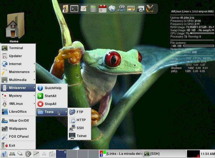 4MLinux - uma distribuição Linux em miniatura e funcional