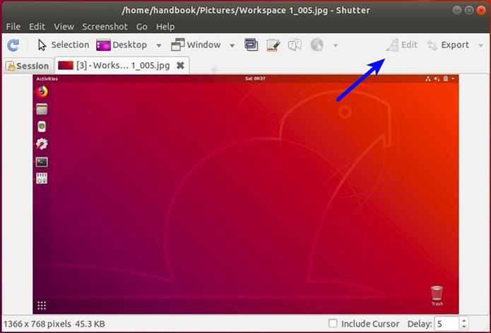 Como ativar a opção 'Editar' do Shutter no Ubuntu 18.04 LTS