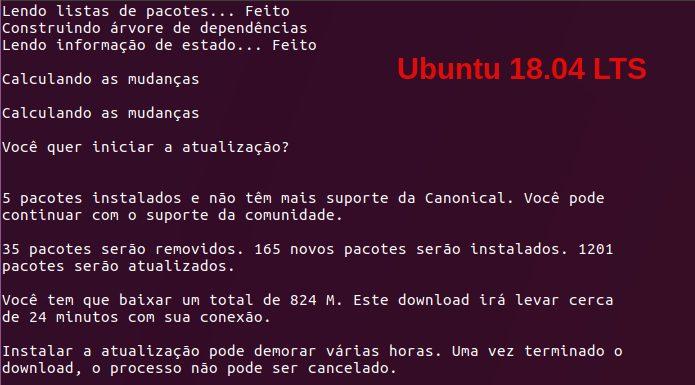 Como atualizar para o Ubuntu 18.04 LTS via terminal (server e desktop)