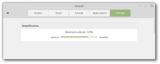 Linux Mint 19 Tara Cinnamon permitirá aumentar volume acima de 100%