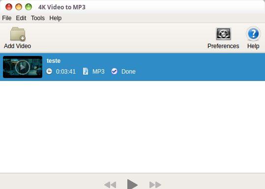 Como instalar o conversor 4K Video to MP3 no Linux